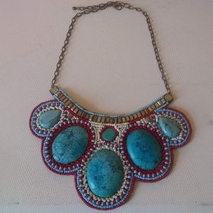 Vintage Turquoise and bead necklace